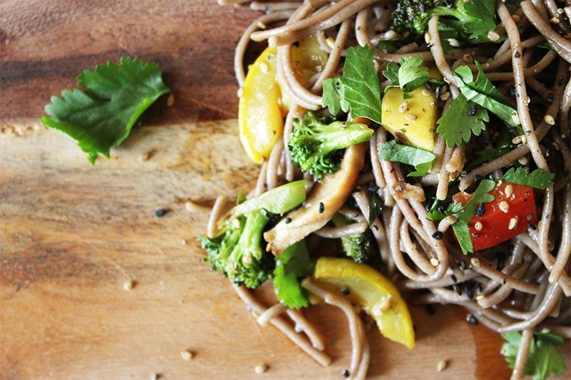 Buckwheat Soba Vegetable Salad